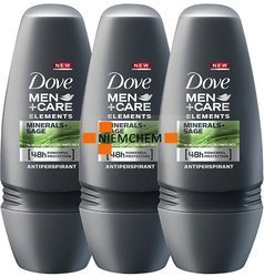 Dove Men+Care Minerals Sage Antypersirant Roll On 3 x 50ml