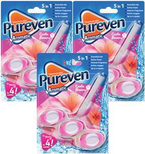Pureven Aromatic Zawieszka do WC Exotic Flowers x3 UK