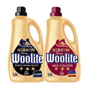 Woolite Colors Dark Płyn do Prania Kolorowego Czarnego 120pr 2 x 3,6L