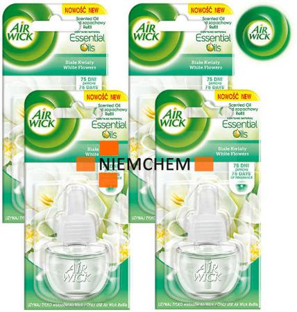 Air Wick Electrical Białe Kwiaty Odświeżacz 4 x 19ml Wkład