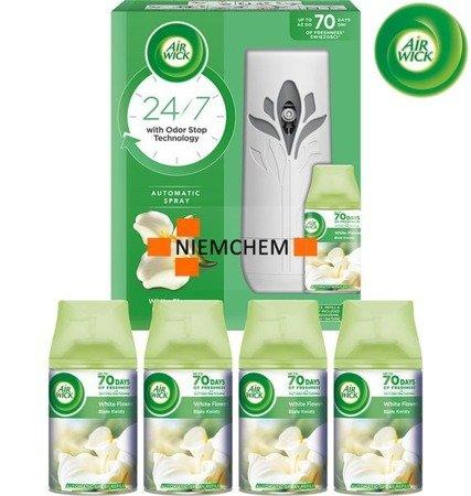 Air Wick Freshmatic Białe Kwiaty Zestaw + 4 Wklady