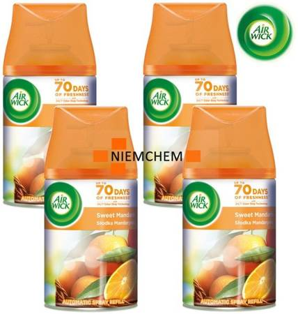 Air Wick Freshmatic Sweet Mandarin 4 x 250ml Wkład