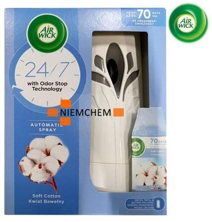 Air Wick Pure Freshmatic Kwiat Bawełny Komplet Urządzenie