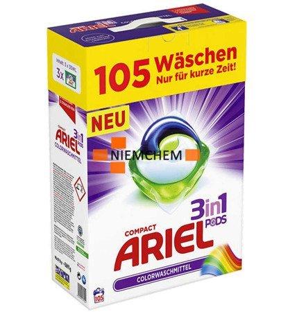 Ariel Color BOX Kapsułki do Prania Kolor 3w1 105szt DE WYPRZEDAŻ