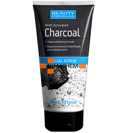 Beauty Formulas Charcoal Peeling Scrub Węglowy do Twarzy 150ml UK