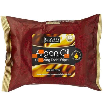 Beauty Formulas Chusteczki do Mycia Twarzy Argan Oil 30szt UK