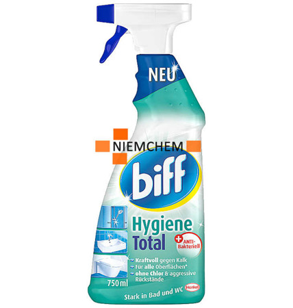 Biff Bad Hygiene Total Spray do Czyszczenia Łazienek Prysznica 750ml DE