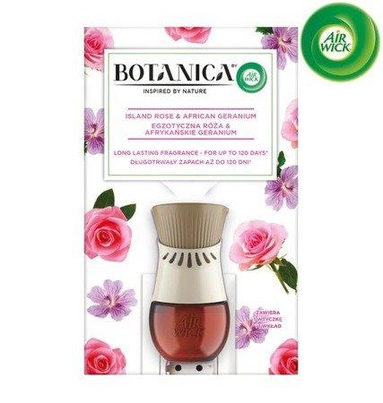 Botanica by Air Wick Electric Odświeżacz Powietrza Egzotyczna Róża i Afrykańskie Geranium Komplet