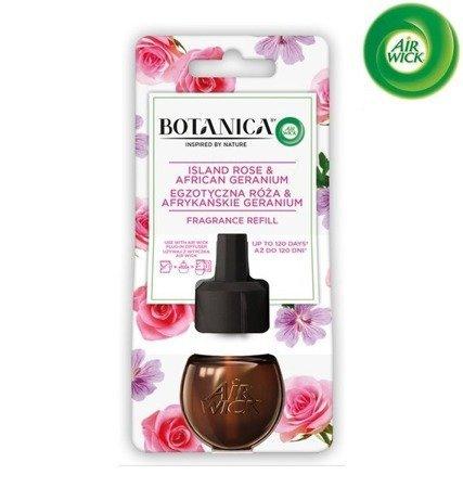 Botanica by Air Wick Electric Odświeżacz Powietrza Egzotyczna Róża i Afrykańskie Geranium Wkład 19ml WYPRZEDAŻ