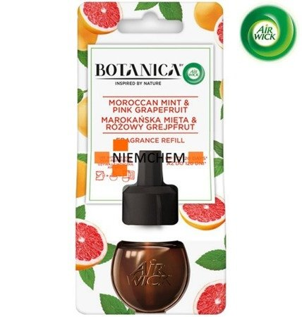 Botanica by Air Wick Electric Odświeżacz Powietrza Marokańska Mięta i Różowy Grejpfrut Wkład 19ml
