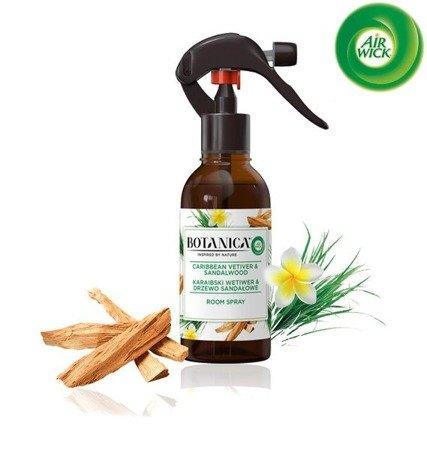 Botanica by Air Wick Odświeżacz Powietrza Karaibski Wetiwer i Drzewo Sandałowe Spray 236ml
