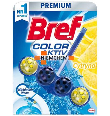 Bref Blue Lemon Cytryna Zawieszka do WC Kulki Barwiące Niebieska Woda PL