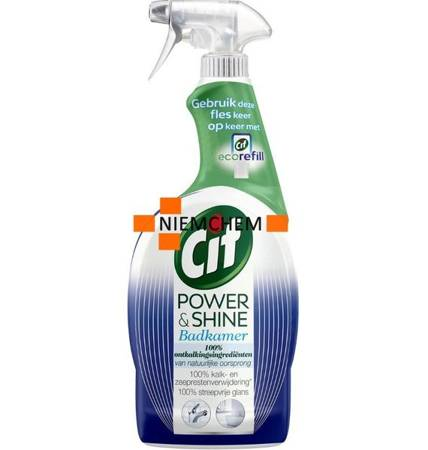 Cif Power & Shine Bad na Kamień do Mycia Łazienki Spray 750ml DE