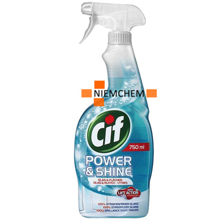 Cif Power & Shine Glas do Mycia Szyb Szkła Okien Spray 750ml DE