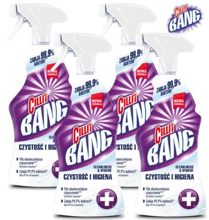 Cillit Bang Czystość i Higiena Spray 4 x 750ml