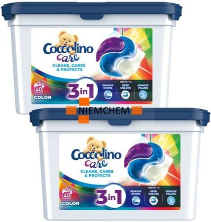 Coccolino Care Color Kapsułki Prania Kolor 2x40= 80szt