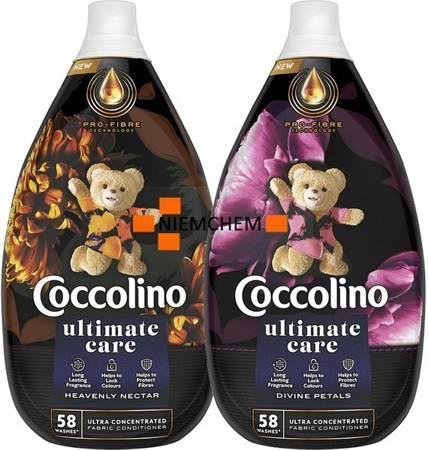 Coccolino Ultimate Care Divine Petals + Heavenly Nectar Płyn do Płukania 116pr 2 x 870ml