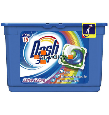 Dash 3w1 Salva Colore Kapsułki do Prania 15szt IT