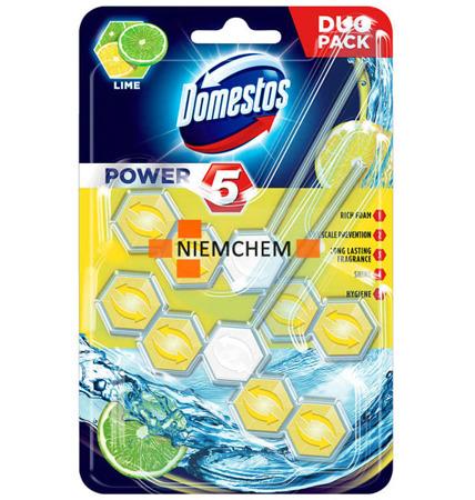 Domestos Duo Power 5 Lime Zawieszka do WC 2szt