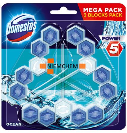 Domestos Trio Power 5 Ocean Morska Zawieszka WC 3szt