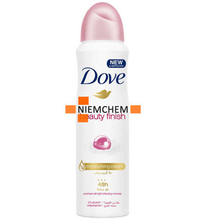 Dove Beauty Finish z Minerałami Antyperspirant Damski Spray 150ml BE