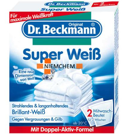 Dr. Beckmann Saszetki Wybielające Super Weiss 2szt DE