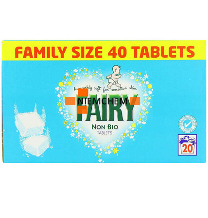 Fairy Non Bio Sensitive Tabletki do Prania 40sz UK