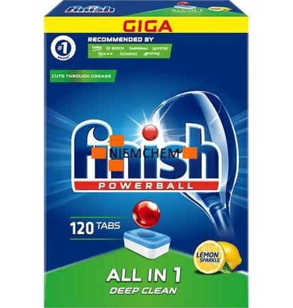 Finish All-in-1 Lemon Tabletki do Zmywarki 120szt