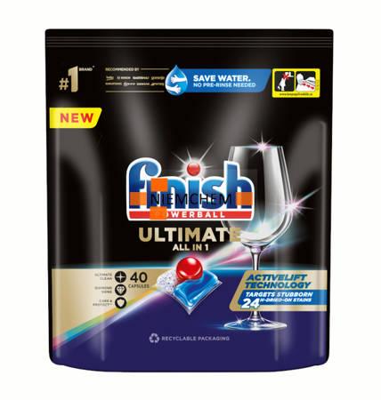 Finish Quantum Ultimate ActivBlu Regular Kapsułki do Zmywarki 40szt