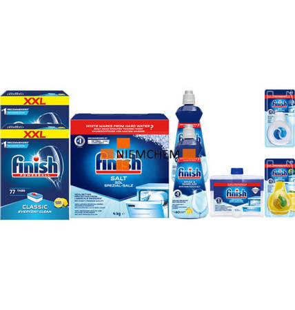 Finish Zestaw Classic: Tabletki 154szt Czyścik, Sól, Nabłyszczacz, Zapach