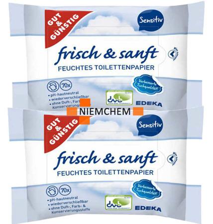 G&G Nawilżany Papier Toaletowy Sensitiv 2 x 70 DE
