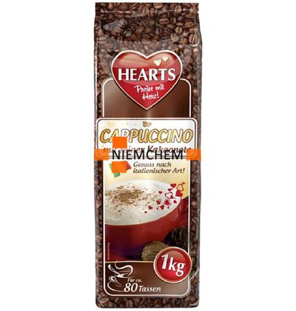 Hearts Kawa Cappuccino Kakao Kakaowe 1kg XXL DE
