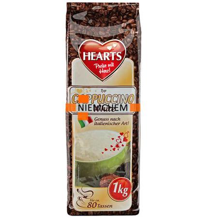 Hearts Kawa Cappuccino White Mleczne 1kg XXL DE
