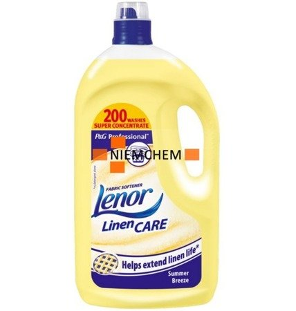 Lenor Summer Breeze Żółty Płyn 4L 200pr UK