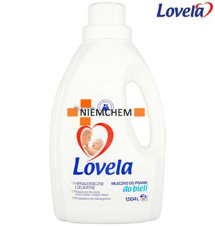 Lovela Mleczko do Prania Białego dla Dzieci i Niemowląt 1,5L 16pr