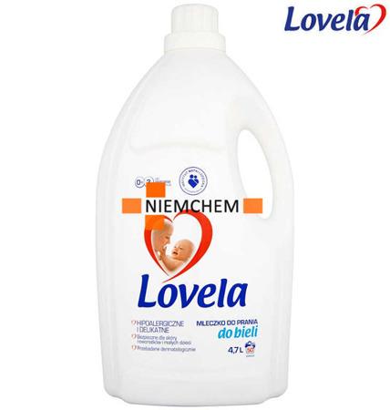 Lovela Mleczko do Prania Białego dla Dzieci i Niemowląt 4,7L XL