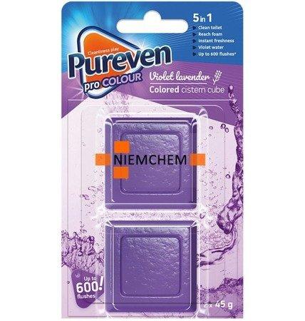 Pureven Violet Barwiąca Kostka do Spłuczki WC x2  UK