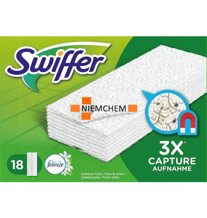 Swiffer Febreze Perfumowane Ściereczki do Mopa 18 DE