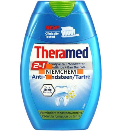 Theramed 2w1 Anti Tartre Pasta i Płyn do Zębów na Kamień 75ml BE