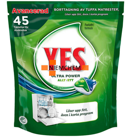 Yes Ultra Power Tabletki do Zmywarki 45 Original SE